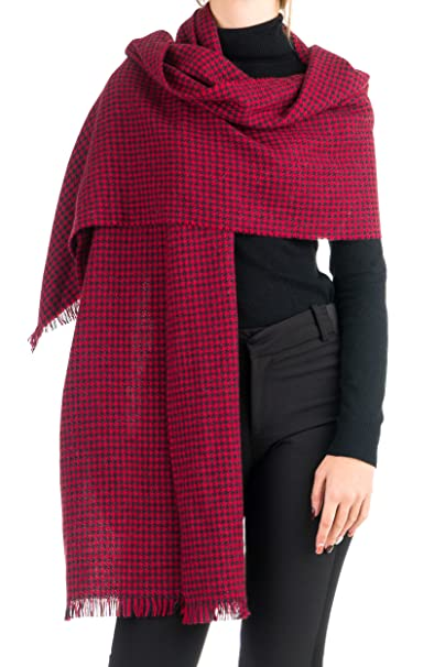 New Bevel Edge Star Pattern /& Check Pattern Winter Scarf One Size Warm