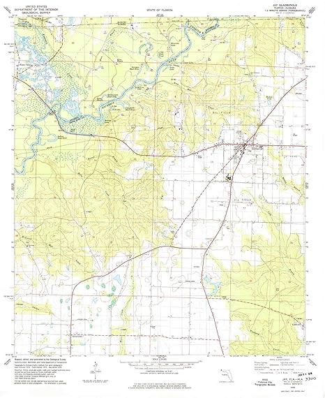 Amazon.com : YellowMaps Jay FL topo map, 1:24000 Scale, 7.5 ... on map of enterprise alabama, map gainesville fl, mapquest of jay fl, map of jay ok, map of central florida, map of jay vt, map of jay ny, map of georgia and florida,