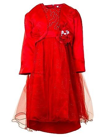 Kamp; Bolero Mit Farben Kleid Vielen Festliches Mädchen Blumenmädchen In Hochzeit Festkleid S 4AL3Rjq5