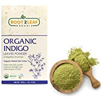 Root2Leaf 100% Herbal Indigo Powder For Hair, Pure Natural and Chemical Free Indigo Leaf Powder, Covers Gray Hair…