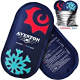 AVESTON Ice Gel Cold Pack for Injuries – Reusable Flexible 2 Ice Packs Set for Knee, Ankle, Back, Shoulder, Neck - Hot Cold Therapy Compress for Women Men