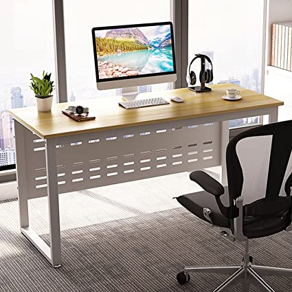 Exceptionnel Computer Desk, LITTLE TREE 55u201d Large Modern Office Desk Study Writing Table  For Workstation