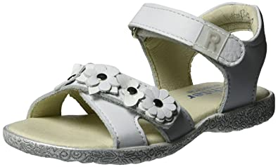 Richter Kinderschuhe Sissi S, Sandales Bout Ouvert Fille - Blanc - Weiß (Panna/White), 31