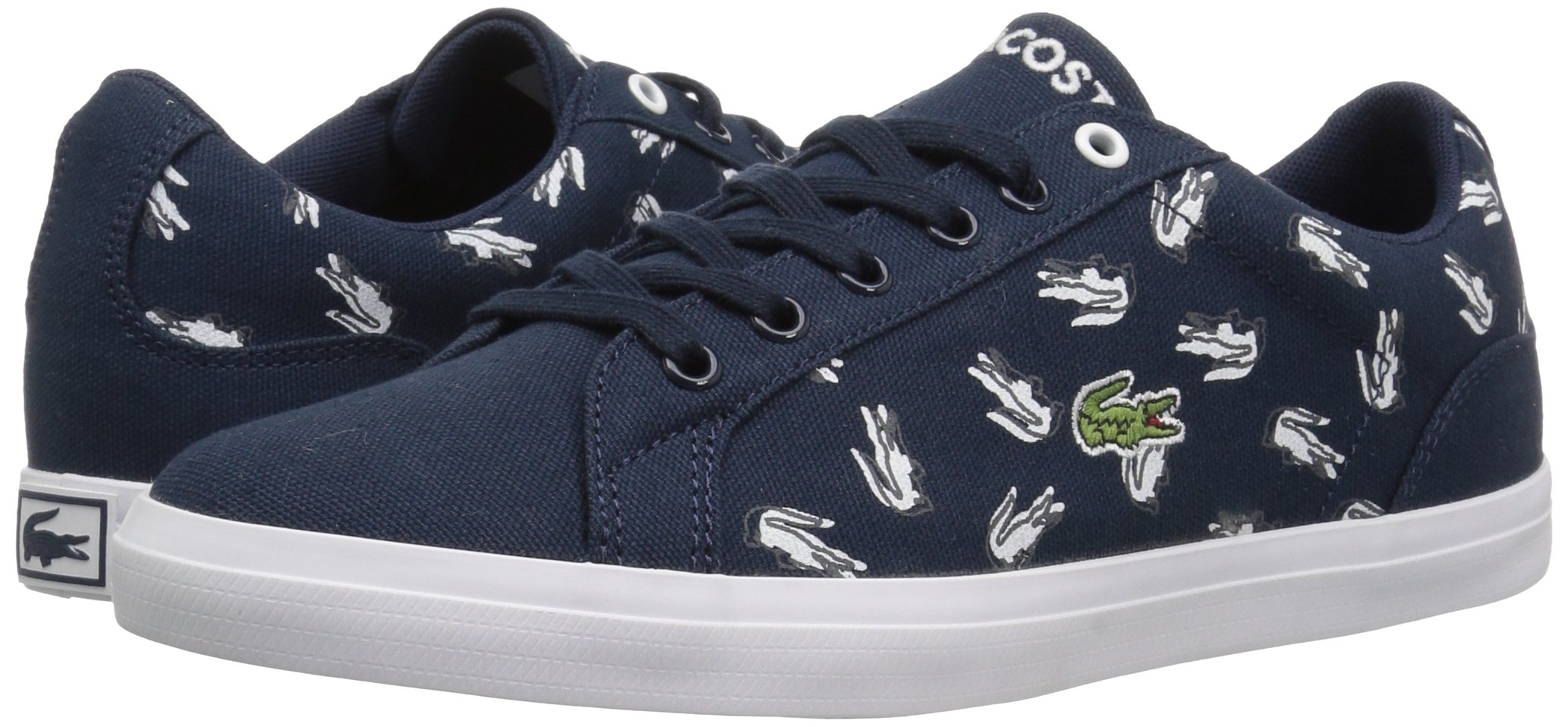 Lacoste Kids' Lerond Sneakers,Navy/White cotton canvas,5 M US Big Kid by Lacoste (Image #6)