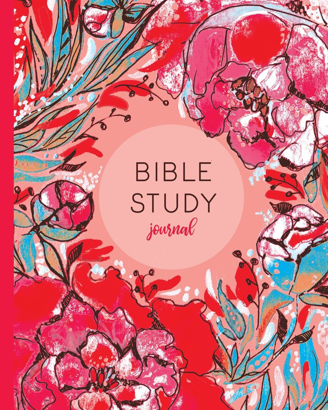 Download Bible Study Journal: Christian Journal With Prompts, Red Pink Floral (Bible Study Guides And Workbooks) pdf