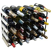 Harbour Housewares 30 Bottle Wine Rack 6x5 - Fully Assembled - Light Wood