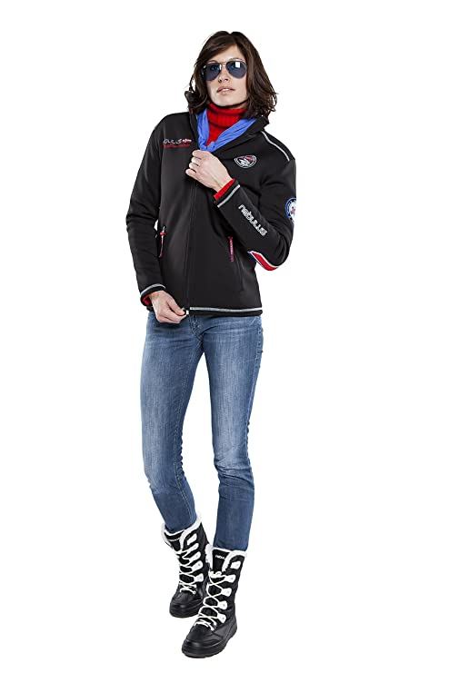 Nebulus Softshell Jacke High End Maestro Fur - Chaqueta de esquí para mujer, color negro, talla L