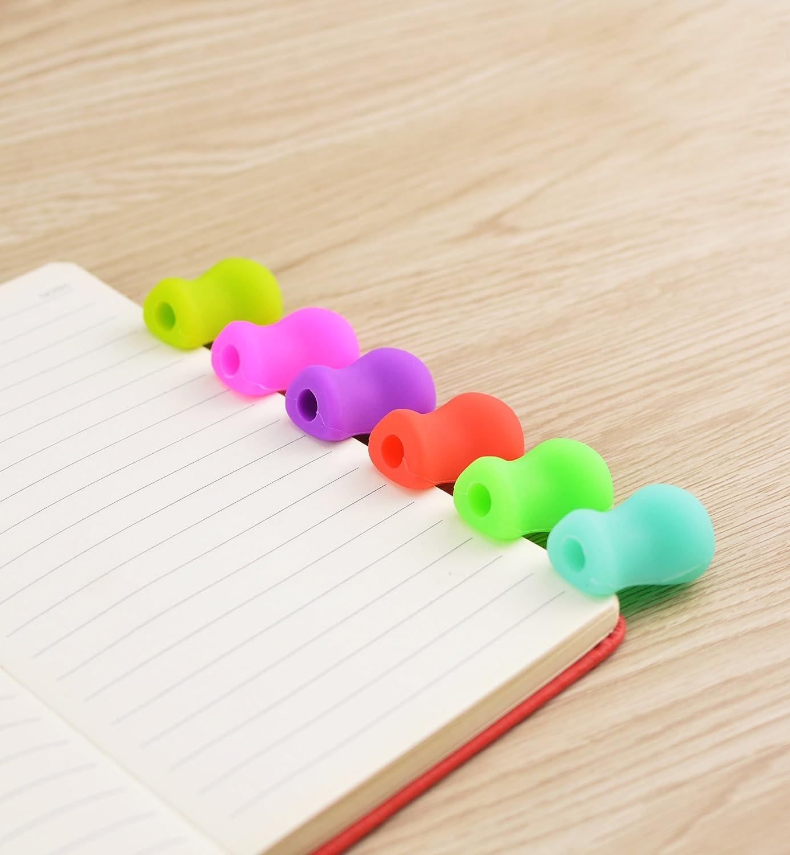 Lápiz de agarre para escritura a mano, 20 unidades, utensilios de escritura para niños, herramienta de corrección de postura con cómoda escritura de garras ...