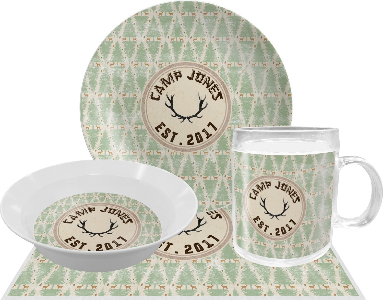 Deer Dinner Set - 4 Pc (Personalized)