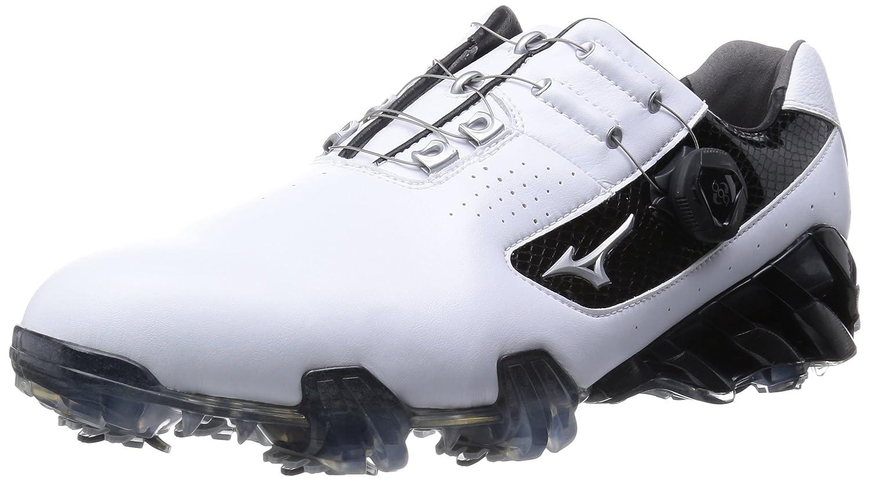 [ミズノゴルフ] ゴルフシューズ ジェネム 005 ボア EEEE B00T476E2S 25.5 4E ホワイト/ブラック