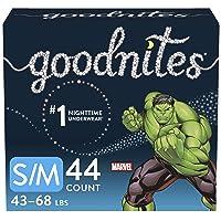 Goodnites Nighttime Bedwetting Underwear, Boys' S/M (43-68 lb.), 44 Ct