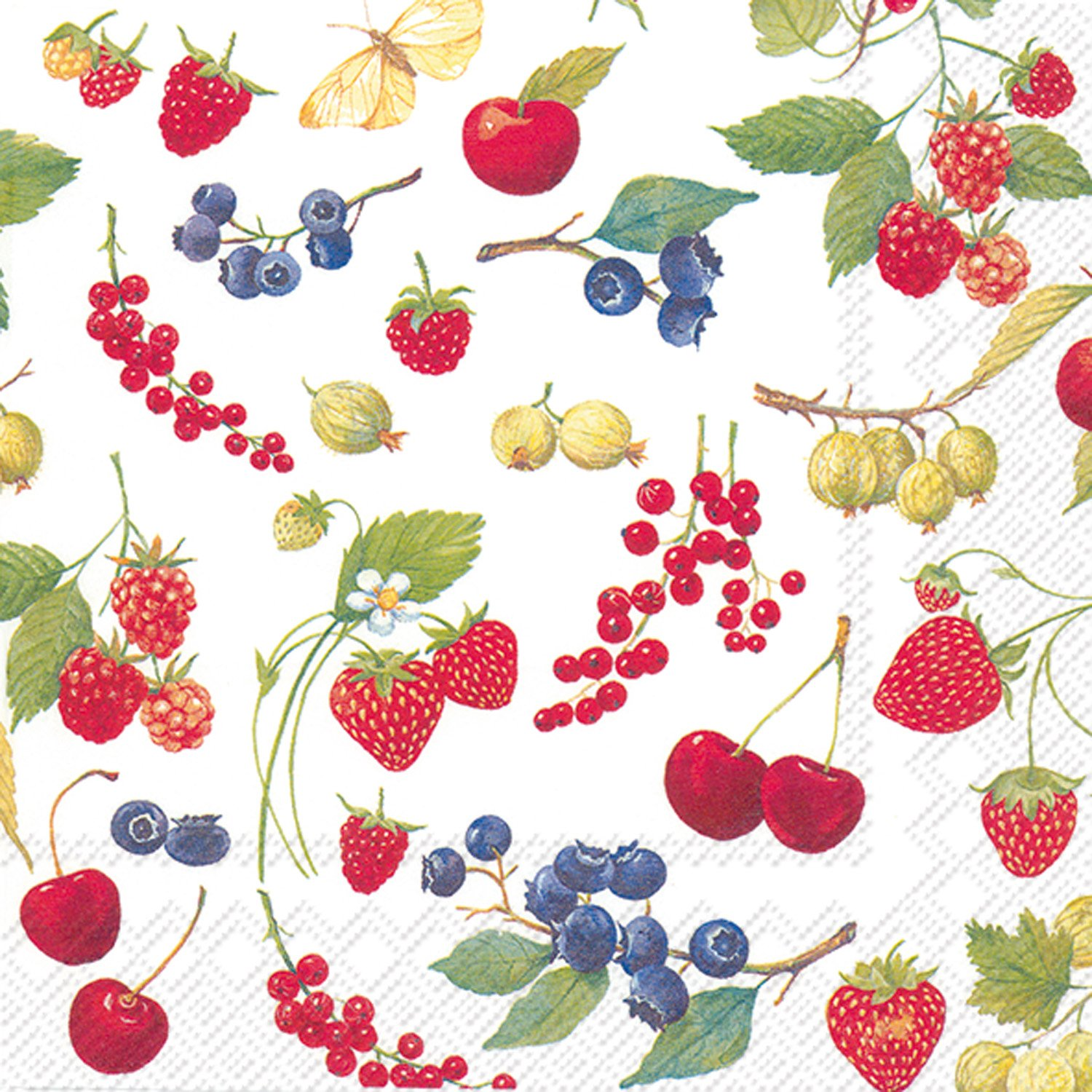 Ideal Home Range 20 Count Fruits Of Summer Paper Luncheon Napkins