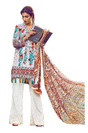 bae86c2fab Madeesh Pakistani Suits for women, Pure Cambric cotton digital print with  Heavy Embroidery Patch Work, ...