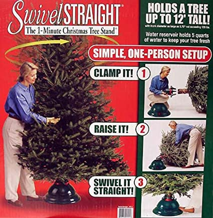 swivel straight 1 minute christmas tree stand for trees up to 12 tall - Amazon Christmas Tree Stand