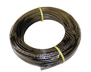 ATP-PE38C Value-Tube NSF 61 LDPE Plastic Tubing, Black, 1/4