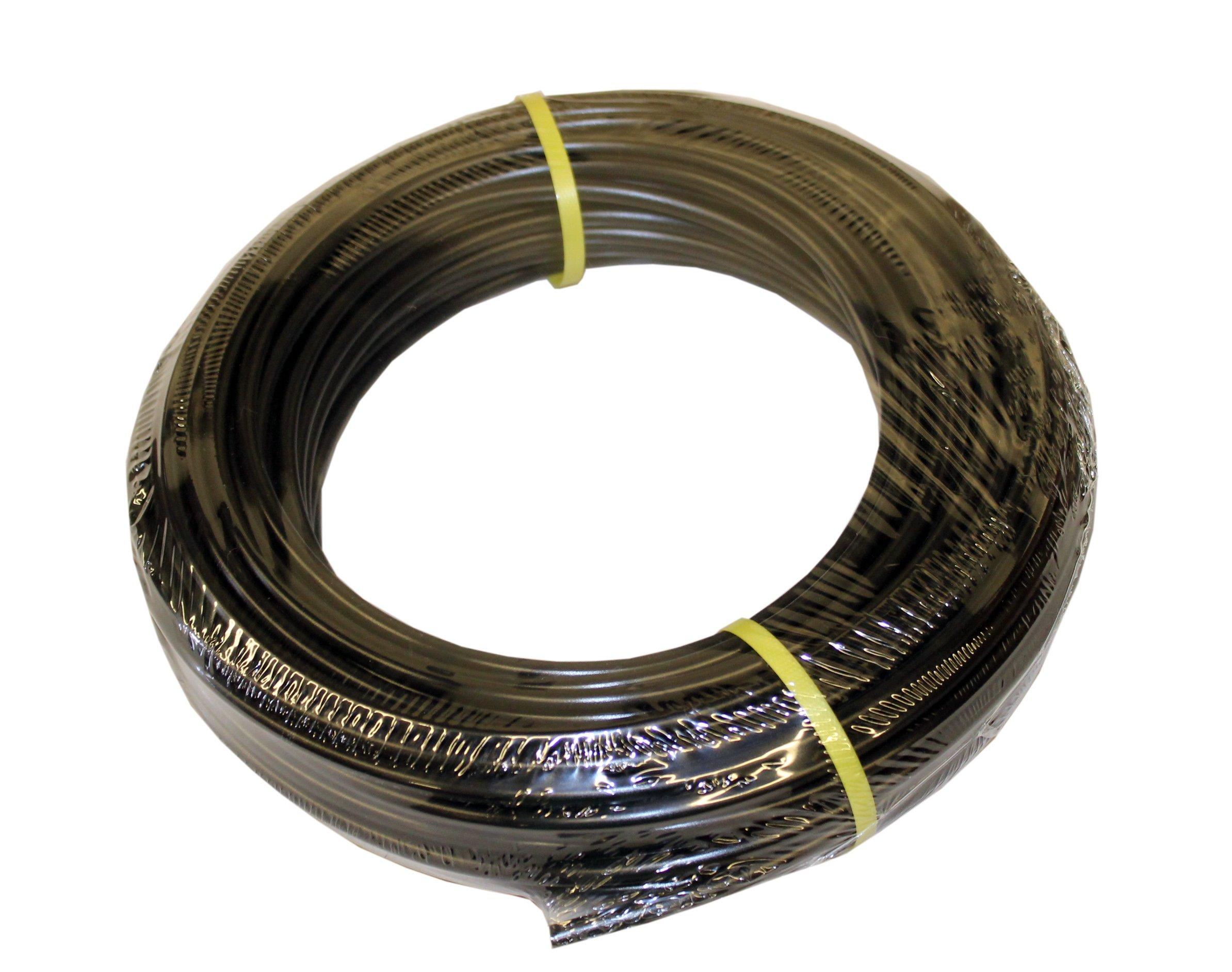 ATP Value-Tube LDPE Plastic Tubing, Black, 1/8'' ID x 1/4'' OD, 500 feet Length