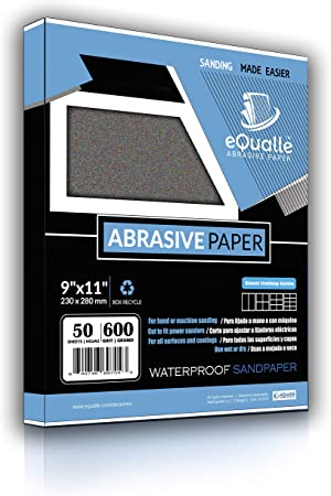 """50 x Wet Dry-Sanding Sheets-220 Grit-Silicon-Carbide 9x11/""""Waterproof paper"""