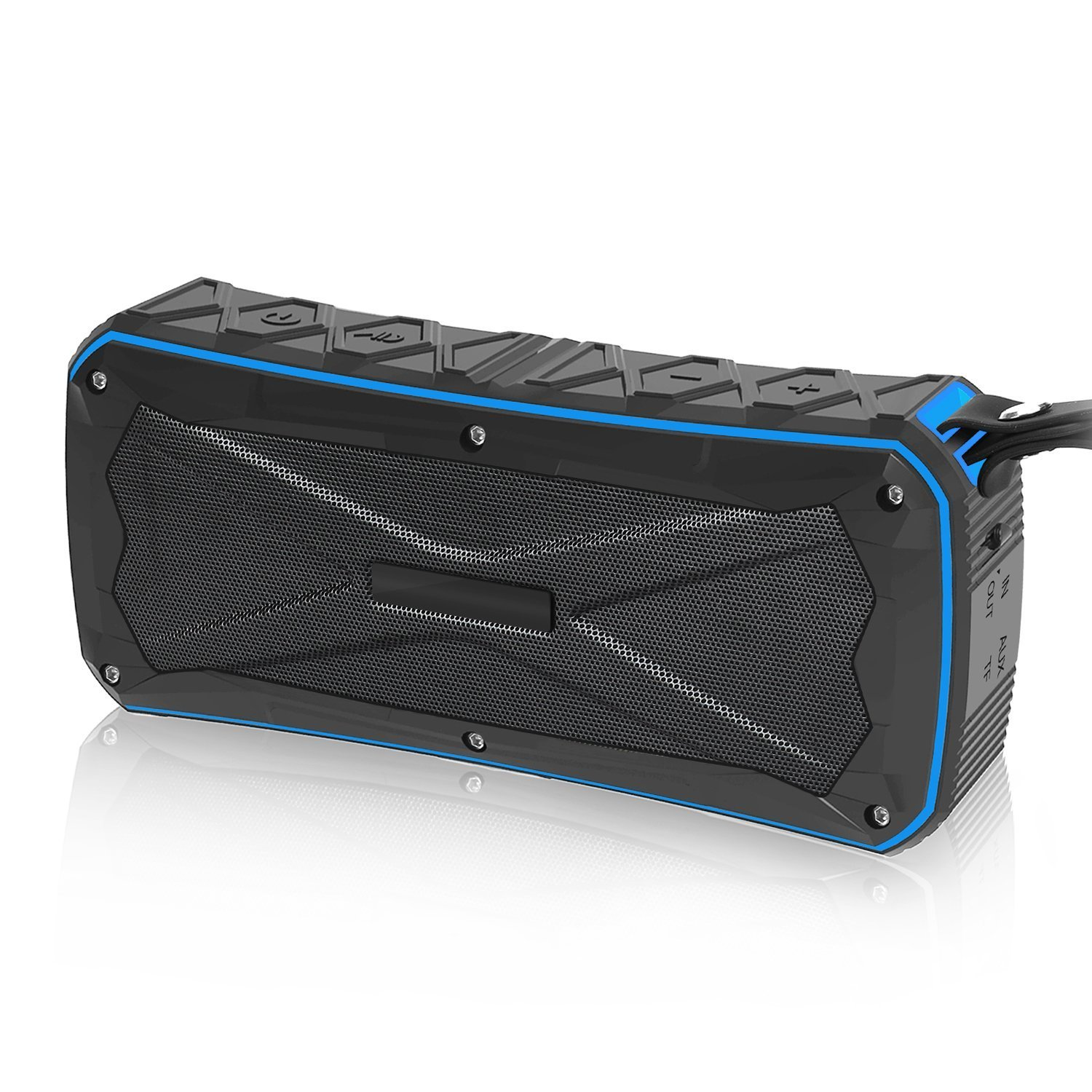 Bluetooth Speaker BINKBANG Outdoor Portable Speakers Wireless Waterproof Subwoofer Shockproof Stereo Soundbar Support TF Card 12H Playtime for Travel Bicycle Camping Hiking Running Yoga