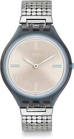 Swatch Reloj Digital para Unisex de Cuarzo con Correa en Acero Inoxidable SVOM101GA: Amazon.es: Relojes