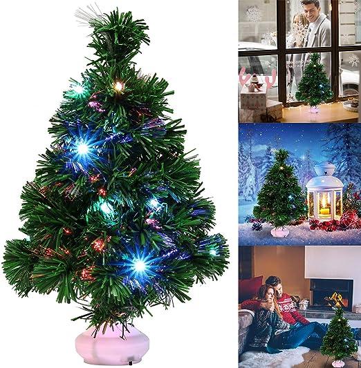 Fascigirl Mini Arbol Navidad, LED Mini Arbol Navidad Luces Árbol ...