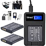 2x Li-50B Rechargeable Li-ion Battery + USB Charger for Olympus Stylus 1010 1020 1030 9000 9010 SP-800UZ SP-810UZ SZ-10 SZ-11 SZ-12 SZ-15 SZ-20 SZ-30MR SP-720UZ iHS SZ-16 iHS Camera as OLYMPUS LI-50B PENTAX D-Li92 RICOH DB-100