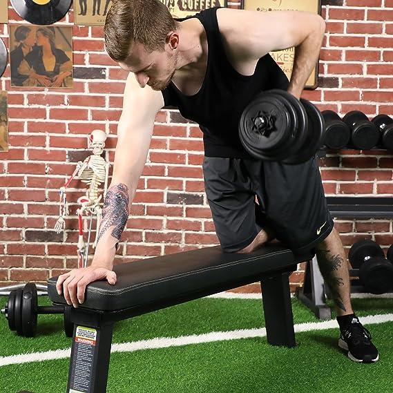 SONGMICS Juego de Pesas Mancuernas de Fitness Ideal para Hombres Negro 20 kg: Amazon.es: Deportes y aire libre