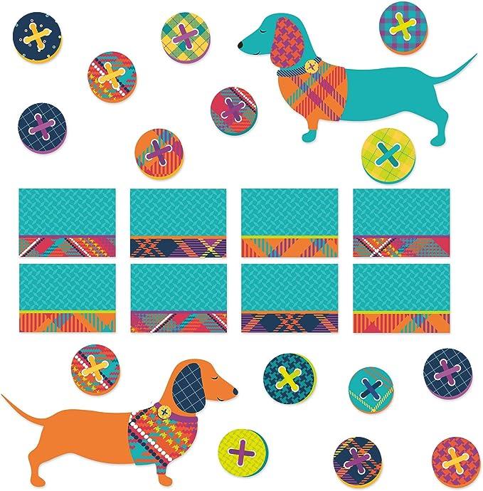 Eureka Plaid Multicolor Dog Themed Motivational Vinyl Window Cling Classroom Decorations Sizes Vary 15pcs