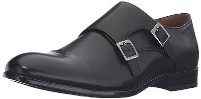 ALDO Men's Marzilli Monk Strap, Black Leather, ...
