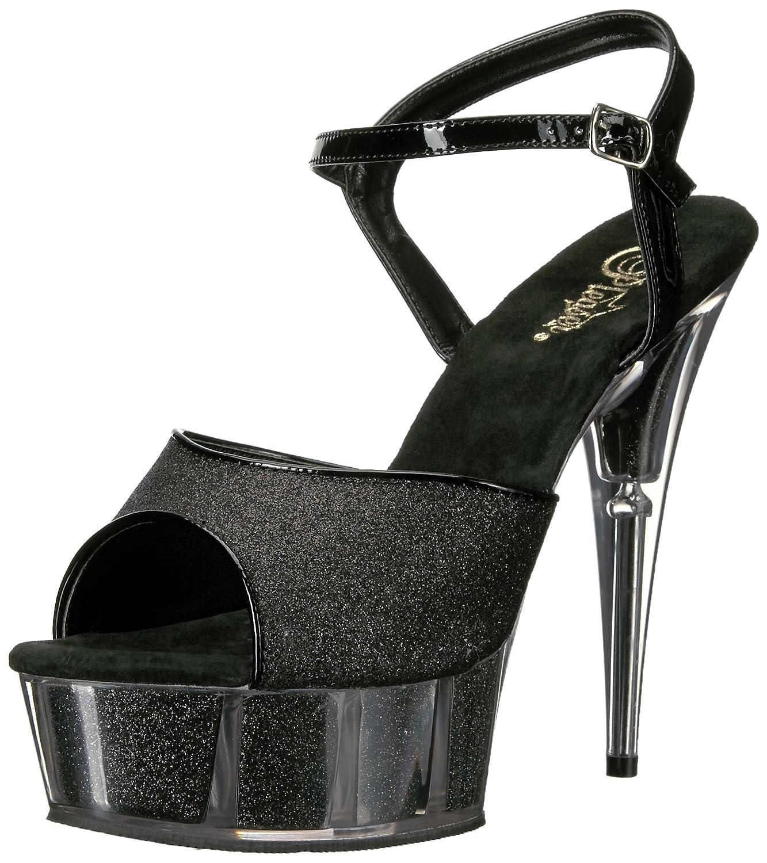 Pleaser Womens Del609-5g//B//M Platform Sandal