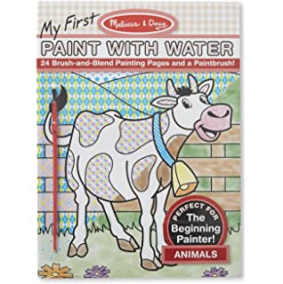 melissa doug my first paint with water coloring book animals 24 painting pages - Kids Paint Book