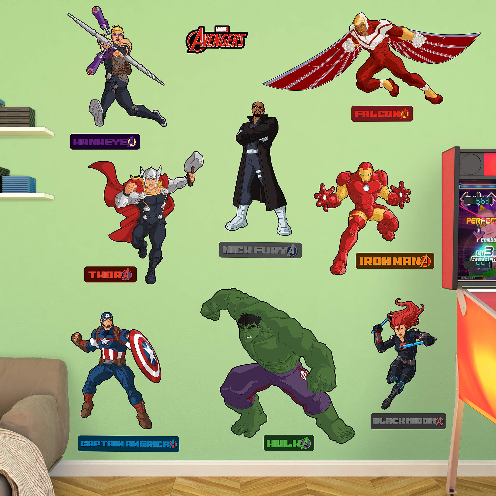 FATHEAD Avengers Assemble: Illustrated Collection-X-Large Officially Licensed Marvel Removable Wall Decal by FATHEAD
