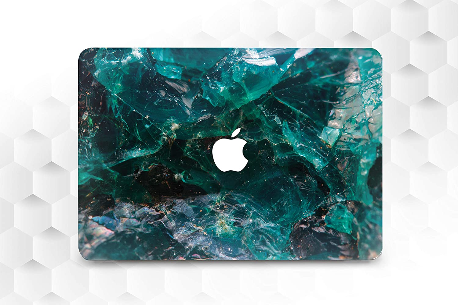 Green Marbled MacBook Air 11 13 2018 Full Printed Cover Stone MacBook Pro 13 15