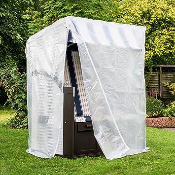 Schutzhülle für Ampelschirm mit Reißverschluss transparent Plane Garten Abdeckun