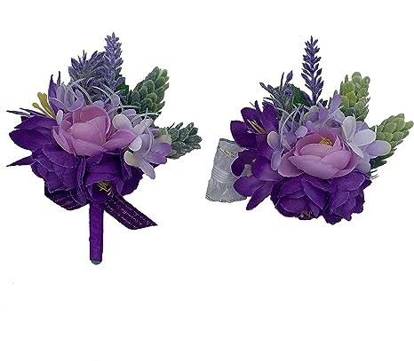 Lavender Purple green /& cream wrist corsage Wedding flower corsage Floral prom corsage Bridesmaid corsage Pretty small corsage Natural