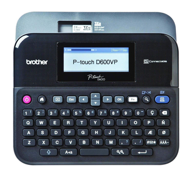 Brother PT-D600VP Professional Desktop Label Printer + Extra Original TZE231 Black Text On White Laminated Glossy Tape (12mm x 8m)