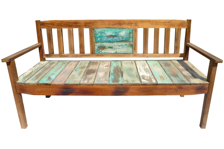 outflexx 3 sitzer gartenbank aus recyceltem fischerbootholz mit armlehnen 160x60x90cm kaufen. Black Bedroom Furniture Sets. Home Design Ideas