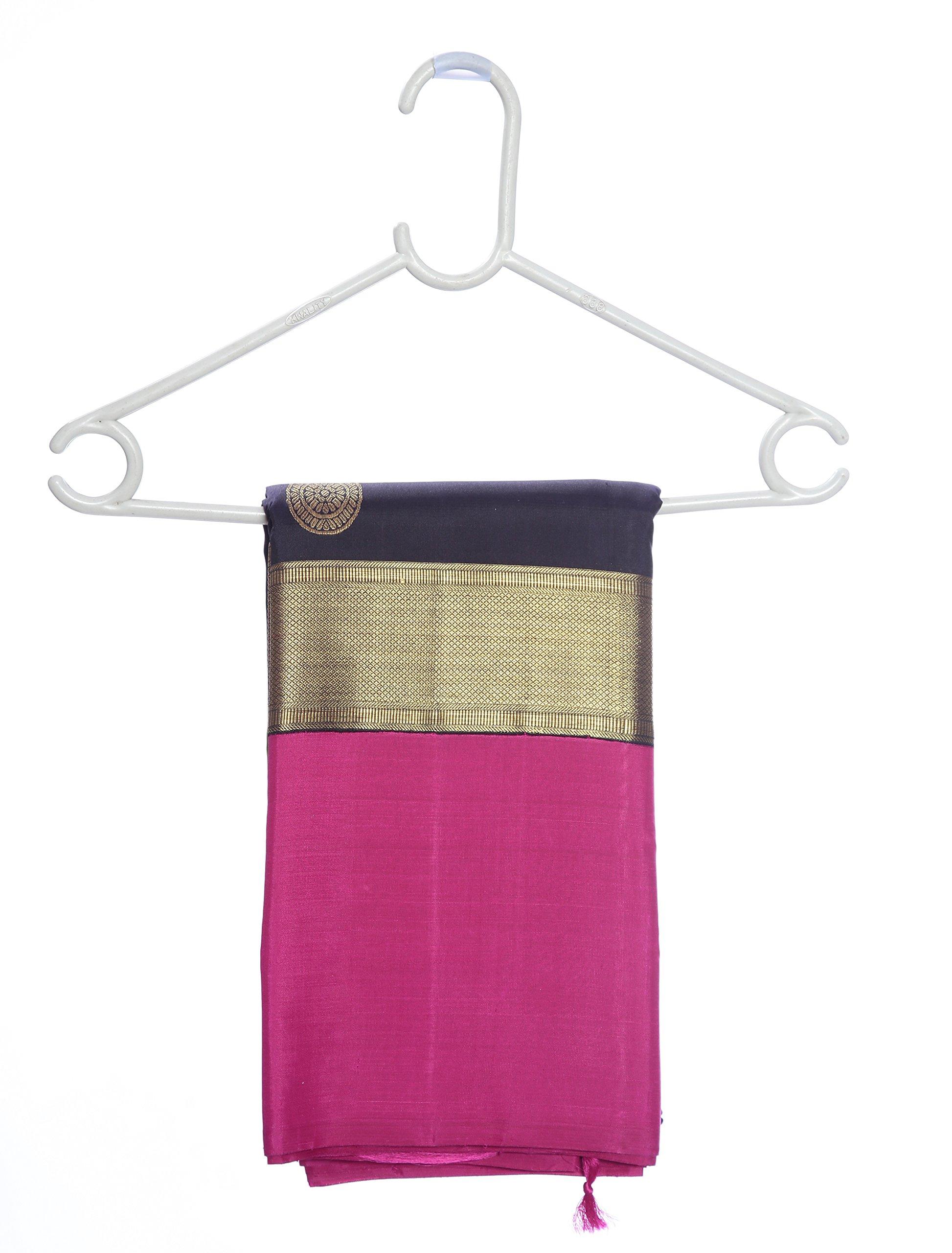 Mandakini — Indian Women's Kanchipuram - Handloom - Pure Zari & Pure Silk Saree (Black ) (MK214) by Mandakini (Image #6)