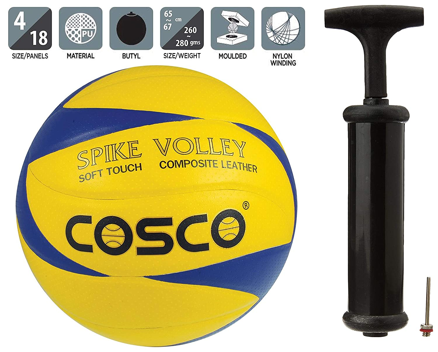 Buy Cosco Spike Volley Ball Size 4 And Cosco Hand Pump Online At Low Prices In India Amazon In