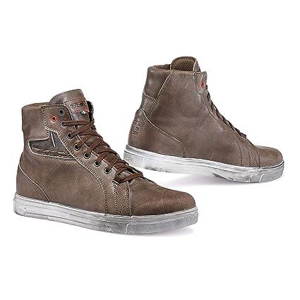 f441e546d516f TCX Street Ace Waterproof Men's Street Motorcycle Shoes - Coffee Brown/44