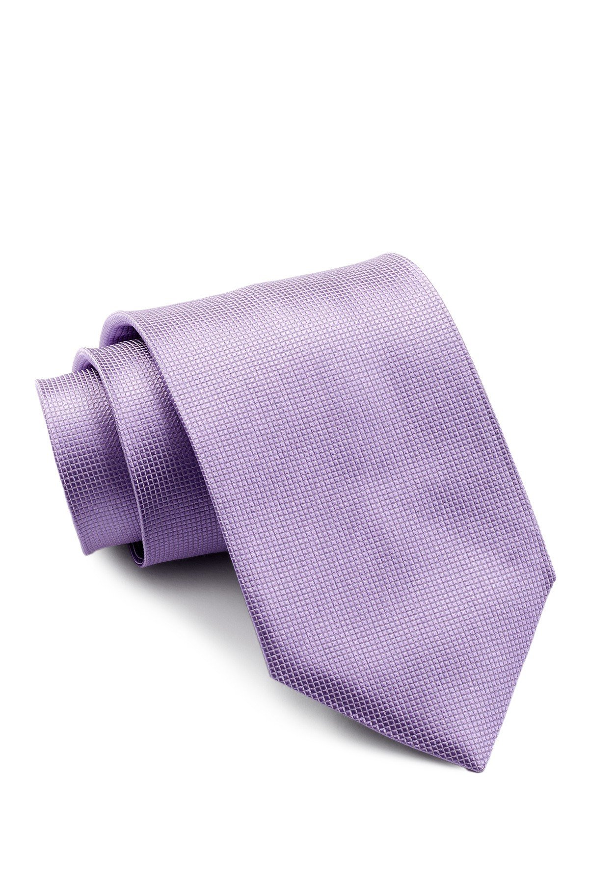 Boss Hugo Boss Micro Check Italian Silk Tie, Light-purple 50242433