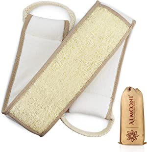 Exfoliating Natural Loofah Back Scrubber to Clean Your Back Deeply