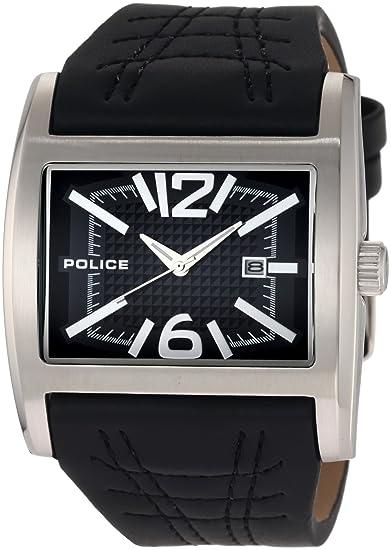 Police Dynamo 12170JS/02A - Reloj de caballero de cuarzo, correa de piel color