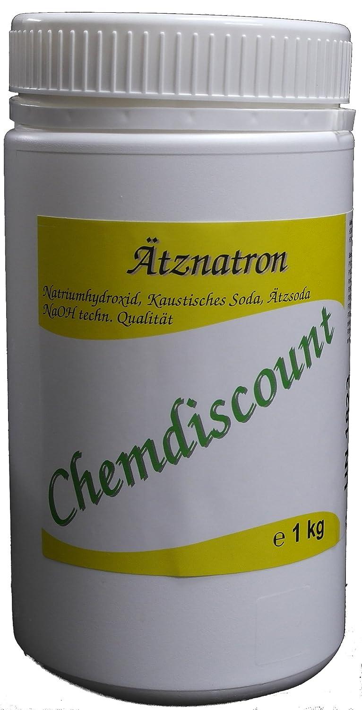 1kg Ätznatron in stabiler Dose (NaOH Natriumhydroxid) Mikroperlen versandkostenfrei! WHC WasserHygieneChemie GmbH