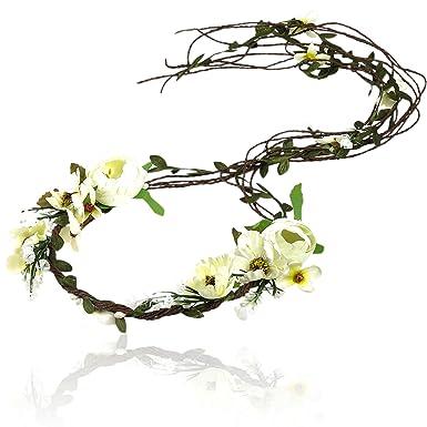 Awaytr Boho Braut Blume Girlande Stirnband Frauen Madchen