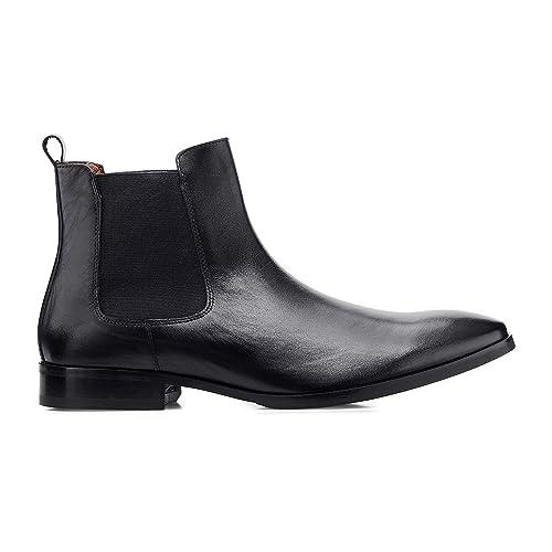 c5b376053c3233 Belmondo Herren Herren Chelsea-Boots aus Leder