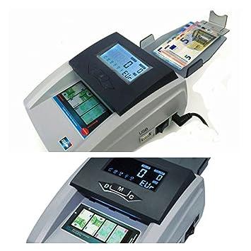 Detector de billetes contador 2 en 1 portatil a red 220V y batería recargable: Amazon.es: Oficina y papelería