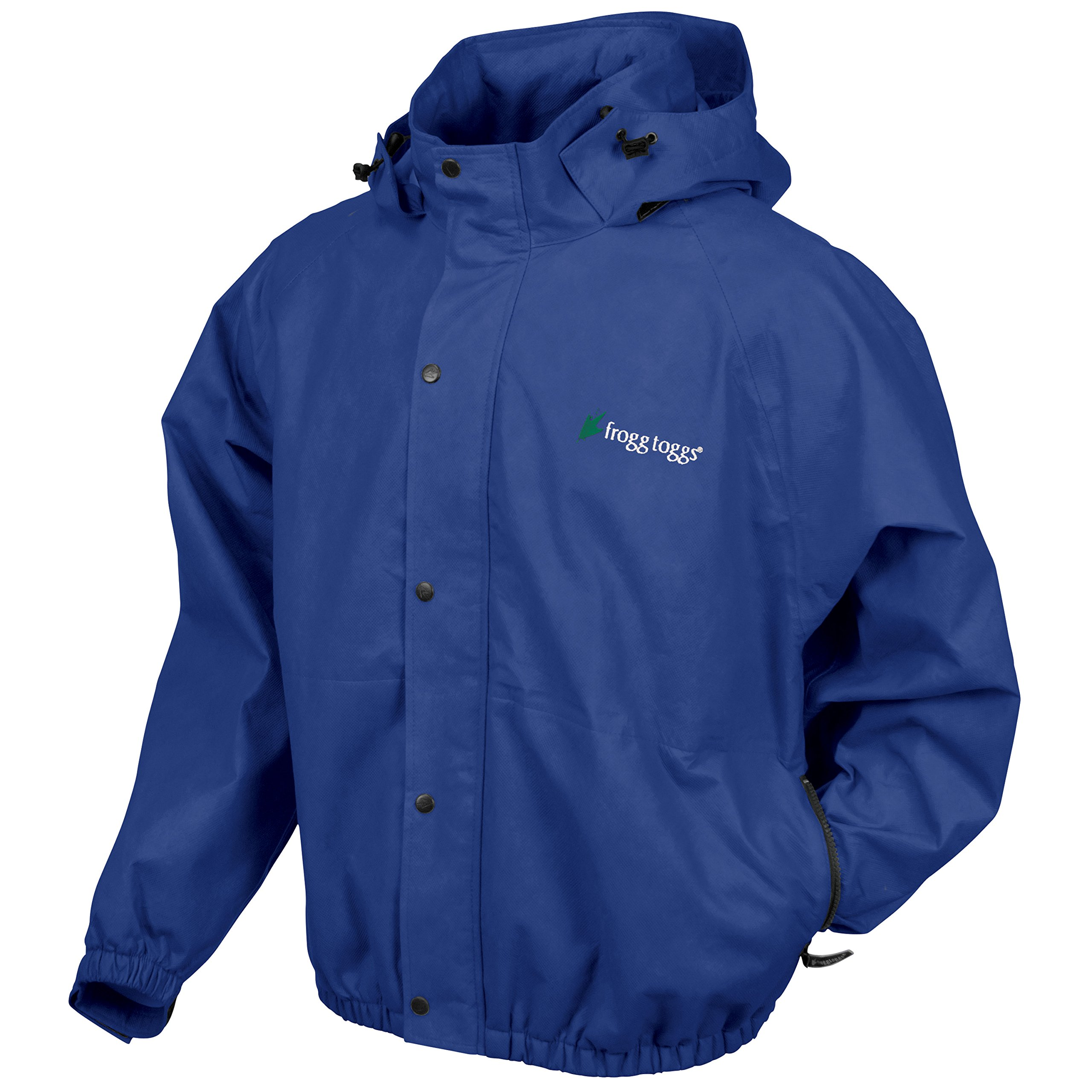 Frogg Toggs Classic Pro Action Rain Jacket with Pockets, Royal Blue, Size Small