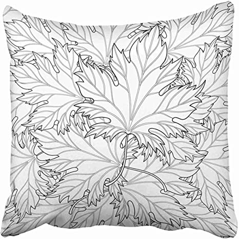 Amazon.com: Ashasds Zentangle Autumn Fall Leaves For Halloween Thanksgiving  Day Freehand Sketch For Adult Coloring Page Throw Pillow Covers For Home  Indoor Comfortable Cushion Standard Size 24x24 In: Home & Kitchen