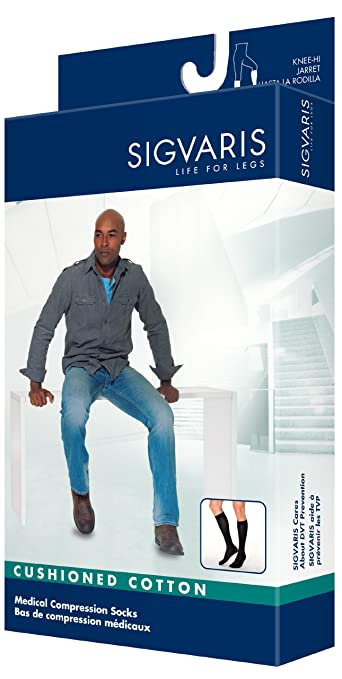 90ec6e11745 Image Unavailable. Image not available for. Color  Sigvaris 360 Cushioned  Cotton Series 20-30 mmHg Men s Closed Toe Knee Highs - 362C