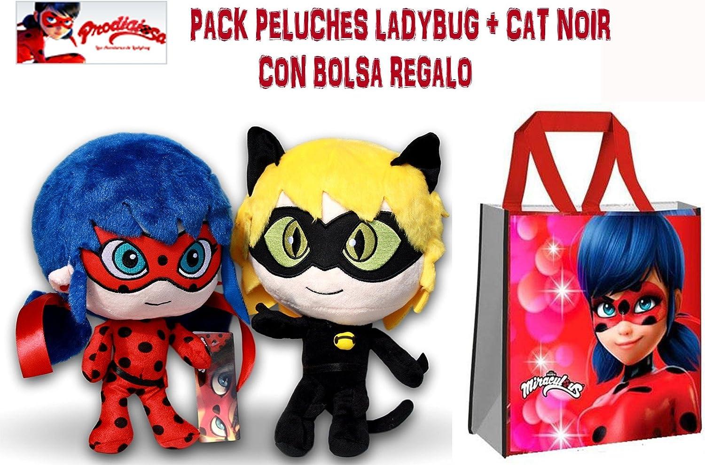 LADYBUG PELUCHES PACK 2 UNID. CON REGALO: Amazon.es: Juguetes y juegos